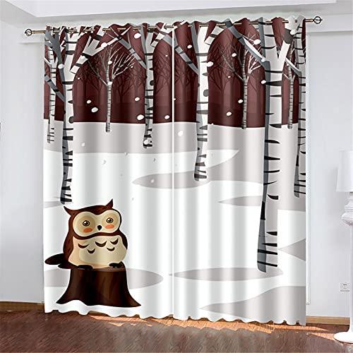 FACWAWF Cortinas De Estampado Floral 3D para Cocina, Dormitorio, Hotel, Decoración De Apartamentos, Cortinas Opacas W184xH160cm(2pcs)