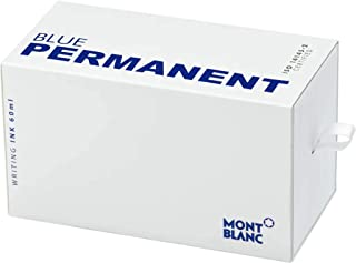 Montblanc Ink Bottle Permanent Blue 107756 – Document-Proof Refill Ink in Navy Blue for Fountain Pens, Quills, and Calligraphy Pens – 60ml Inkwell