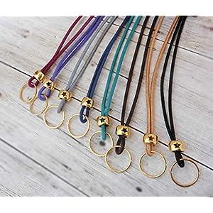 Wechselkette für Anhänger vergoldet Stern echtes Leder Farbwahl LederKette Bettelkette Lederkordel
