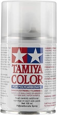 Tamiya America, Inc Polycarbonate PS-55 Flat Clear, Spray 100 ml, TAM86055