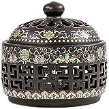 Bruciatore di incenso in ceramica, supporto per bruciatore di incenso, coni bastoncini porta incenso in ceramica per incenso a spirale, diffusore di aromaterapia per regali di decorazioni per la cas