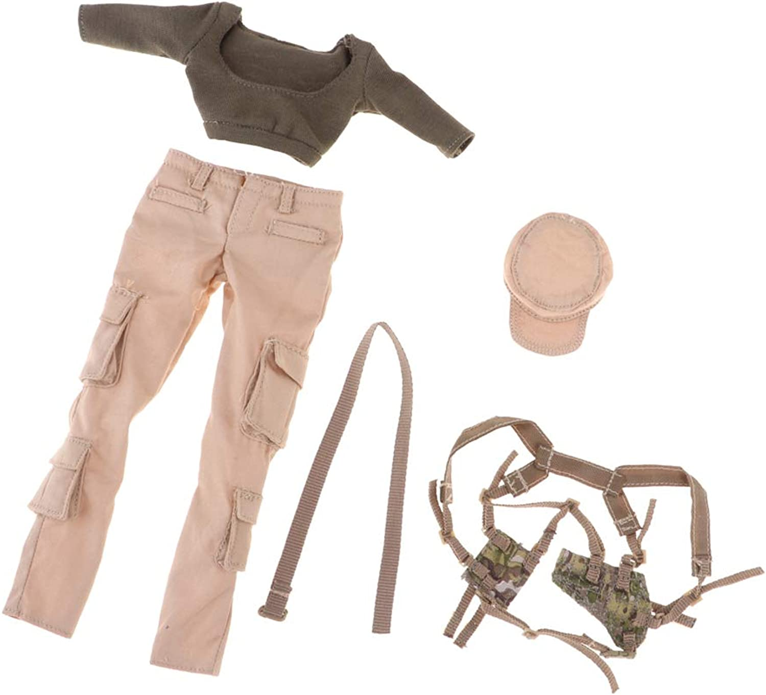 Blesiya 1 6 Tactical Gunner Army Green Suits Set Clothes Belt Backpack for Female