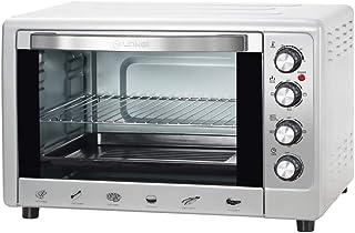 comprar comparacion Grunkel - HR-48 Silver - Horno eléctrico multifunción de sobremesa de 48l con 3 Funciones de Calor y selector de Temperatu...