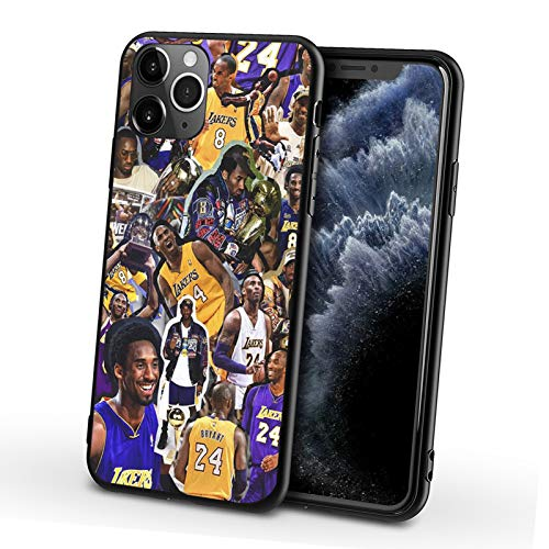 HYCR Phone Cases Black Silicone Material, Basketball Star Lakers Kobe...