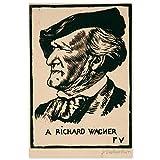 JUNIWORDS Poster, Félix Vallotton, Richard Wagner, 30 x 45