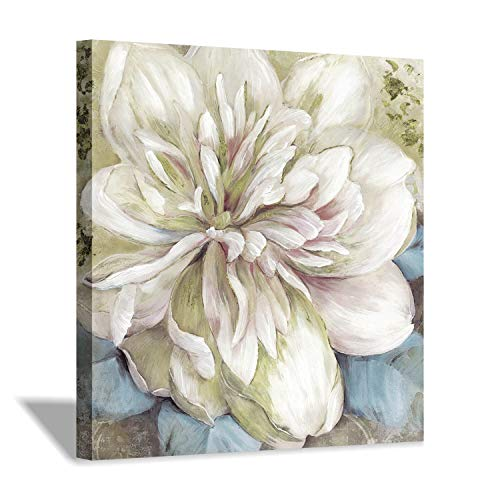 Floral Wall Art Canvas Print: Abstract Flower Artwork Painting for Wall Decor (24''x24'')