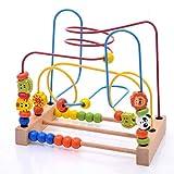 LHTY Animal Bead Maze Roller Coaster Activity Cube Educativo Abacus Beads Círculo Juguetes Entrenamiento Atención Infantil Cuenta y Capacidad de Agarre