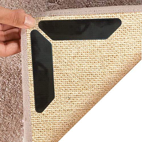 LABOTA 16 Stück Antirutschmatte für Teppich, Anti Rutsch Teppichunterlage, Waschbar Teppich Ecke Rutschfest Teppichstopper Wiederverwendbar Rutschschutz für Teppich
