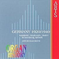 Organ History Germany 1920-1940 by ARTURO SACCHETTI (1998-06-23)