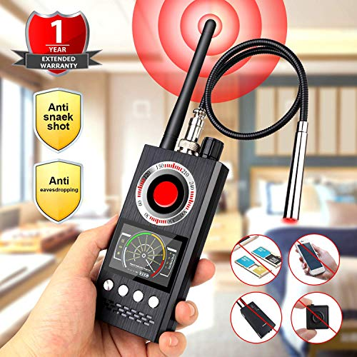 RF Signal Detector, Upgrate Spy Camera Detector Full Range Wireless Anti-Spy Bug Detector gsm GPS Tracker Device Finder FNR Full-Frequency Detector Audio Bug Detect Hidden Camera RF Detector
