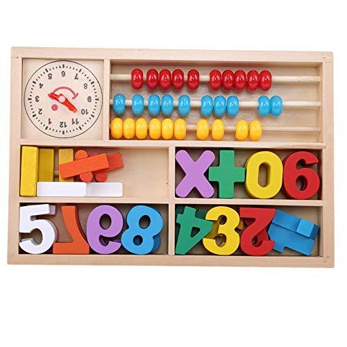 LLZIYAN Cuenta de Madera Números de educación temprana Matemáticas Ábaco Juguete de Aprendizaje Herramienta de enseñanza de jardín de Infantes para niños