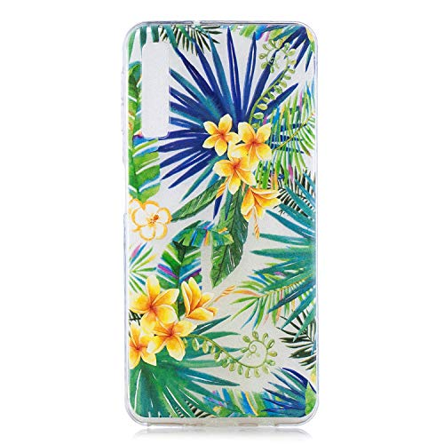 Qiaogle Funda Samsung Galaxy A7 2018 / A750 - Funda de TPU Silicona Carcasa Case Cover para Samsung Galaxy A7 2018 / A750 - HX62 / Osmanthus