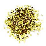 YunBey 30g Confeti de Estrella Dorado Lentejuelas Estrella Dorada Confeti de Mesa Confeti Estrella Se Utiliza para Decoración de Bodas, Ceremonias de Graduación, Cumpleaños y Manualidades