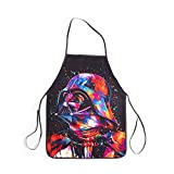 WINTERSUNNY Cool Apron Classic Movie Darth Vader Kitchen Apron Durable Polyester with Adjustable Strap for Painting Gardening Party for Kids Girls