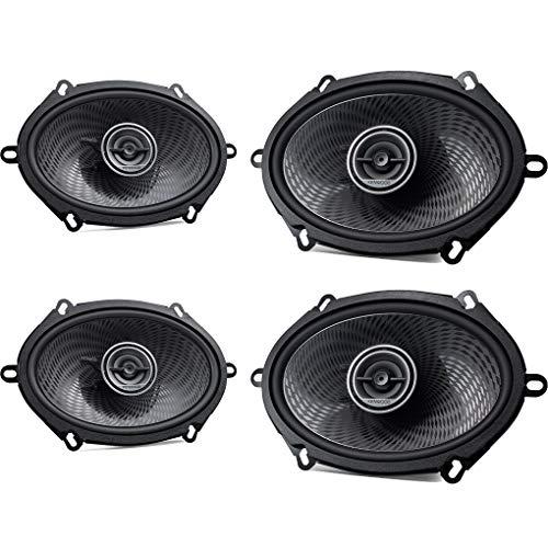 Kenwood Front/Heck 5x7/15x20cm Auto Lautsprecher/Boxen/Speaker Komplett-Set kompatibel für Ford