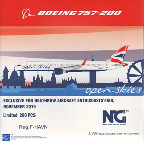 NG Model NGM53127 1:400 British Airways 757-200 Reg #F-HAVN