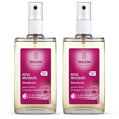 Weleda - Desodorante de rosa mosqueta (2 unidades de 100 ml)