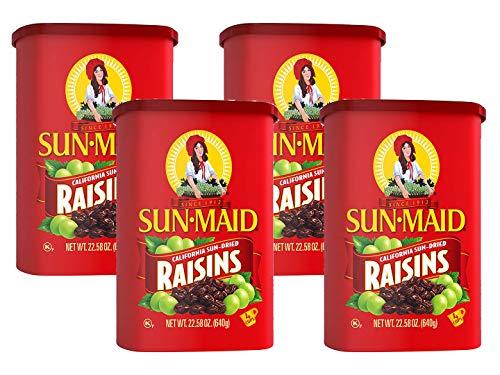Sun Maid Natural California Raisins , 22.58oz - PACK OF 4