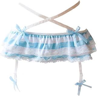 Japanese Striped Panties Bikini Cotton Anime Blue Pink Cosplay Underwear 2 Pack Briefs