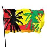 Gsixgoods 3x5 FT Exterior Flag, Welcome Flag, Weatherproof Veranda Flag, Decoration Flag, Rasta Palm Garden Flag, Artificial Outdoor Flag, Home Banner Flag