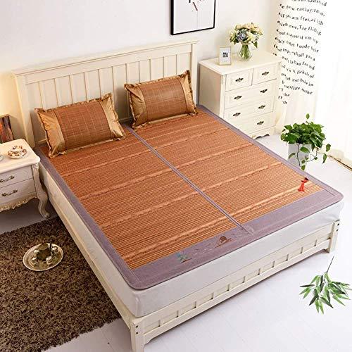 FGDSA Juego de Fundas de Almohada y colchón de colchón de Verano de enfriamiento de ratán, 150x195 cm