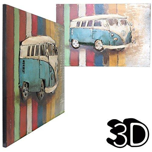 Inspirony Retro Campervan Auto 3D Muur Kunststrijkijzer Beeld Artwork Ophangende Decoratie Schilderijen, Een Maat