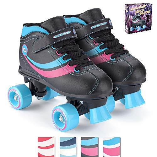 Osprey Mädchen Rollschuhe Disco Skates, Black, 11