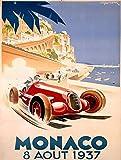 Monaco Metall Zeichen Poster Wandtafel Blechschilder