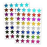 TownStix Pegatinas Gomets Estrellas Brillantes - 8 Colores, 1000 Piezas
