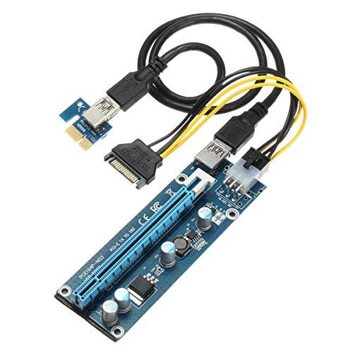 Módulo electrónico Adaptador SATA Power Cable PCI-E Express USB3.0 1x TO16X Extender Tarjeta de elevadora Equipo electrónico de alta precisión