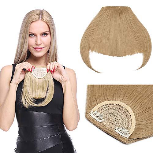 Frange A Clip Lisse Invisible Frange Clip Frange A Plat Fausse Frange A Clip Extension Frange Synthétique Clip In Fringe Bangs - Blond Cendré