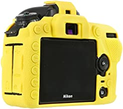 STSEETOP Nikon D7500 Camera Housing Case, Professional Silicion Rubber Camera Case Cover Detachable Protective for Nikon D7500(Yellow)