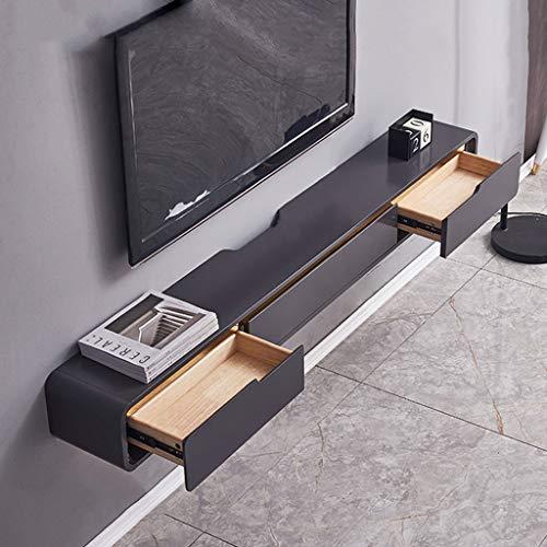SjYsXm-car cover Mueble de TV Flotante, Consola Multimedia montada en la Pared Estante de Almacenamiento de Entretenimiento Estante de componentes Soporte de TV Colgante para Cajas de Cable Enrutador