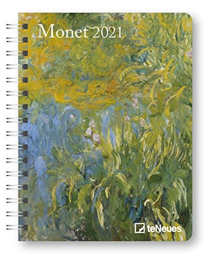 Monet 2021 - Diary - Buchkalender - Taschenkalender - 16,5x21,6: Diary