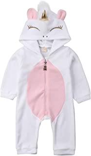 Halloweeen Baby Costumes Newborn Boy Girl 3D Unicorn Romper Hooded Jumpsuit Pajamas Outfit Cothes
