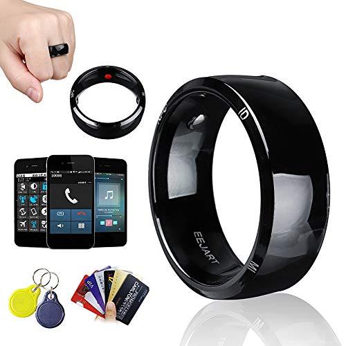YUHUANG Wasserdichter Gesundheitsschutz Smart Ring, Neue Technologie Magic Finger NFC Ring für Android Windows NFC Phone - Schwarz,12