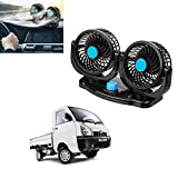 Kandid 360 Degree Rotatable Cooling Car Fan with 2 Speed & Cigarette Lighter