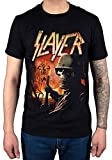 Official Slayer Zombie Torch T-Shirt Band Metallica USA Black