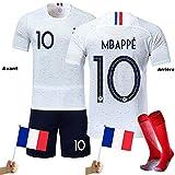 LOVEY Maillots de Football Mbappé Griezmann Enfants France Soccer Jersey 2018 Coupe du Monde France 2 Étoiles Vêtements de...