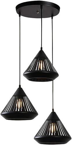 Moderne Noir Suspendus Lumière Art de Fer la Géométrie Luminaire Pendentif Lampe Chambre Salon Cuisine Pendentif Lumière Minimaliste Personnalité Lampe Suspendue