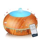 SmartDevil Diffusore di Oli Essenziali, 500 mL Diffusore di Aromi Ultrasuoni con 7 Colori LED & Timer, Umidificatore Diffusore Ambiente per Yoga, Spa, Ufficio, Casa, Senza BPA, Spegnimento Automatico
