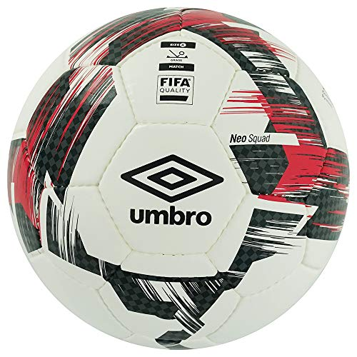 Umbro 26548U Neo Squad - Pallone da calcio omologato FIFA, misura 4, colore: Rosso