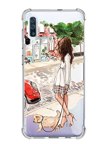 Suhctup Coque Filles Compatible pour Samsung Galaxy J5 Prime 2017,Etui [Antichoc Airbag] Transparent Silicone TPU Souple Mode Motif Crystal Housse Protection Case pour Galaxy J5 Prime 2017,Filles 4
