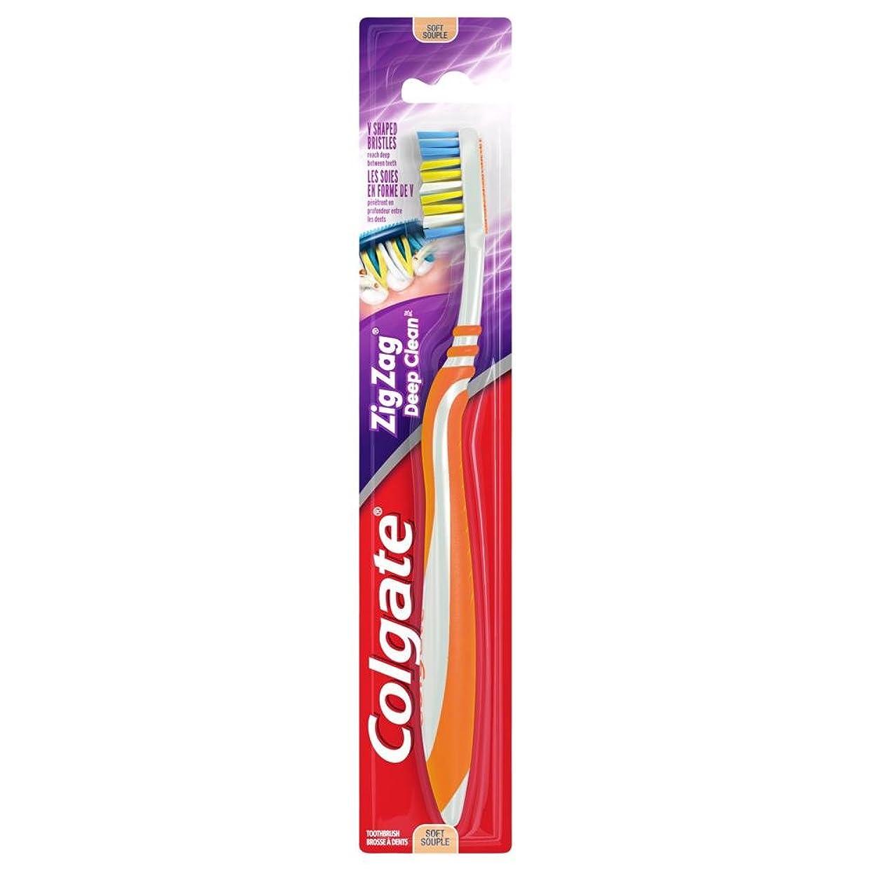 パンチ雨の学校教育Colgate ジグザグディープクリーン歯ブラシ、ソフト - 6パック