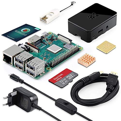 LABISTS Raspberry Pi 3 Modell B Plus (B +) Ultimatives Starterkit mit 32GB Class 10 SanDisk Micro SD Karte, 2,5A EIN/aus-Schaltnetzteil und Premium Black