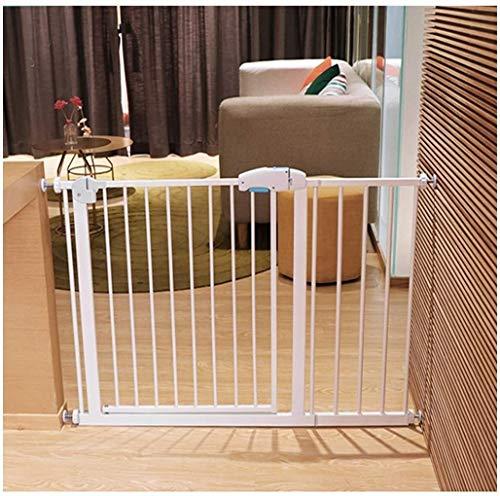 Rowe Pet door baby gate Pressure Fit Safety Metal Gate Stands 75cm tall Width Adjustable 57-225cm Extra Wide Pet door baby gate with Extensions Available (Color : High75cm, Size : Width 211-218cm)