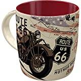 Nostalgic-Art Retro Kaffee-Becher - US Highways - Route 66 Bike Map, Große Retro Tasse, Vintage...