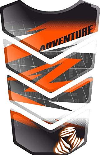 PARASERBATOIO ADESIVO, TANKPAD, TANKSCHUTZ, PROTECTION DE RESEVOIR, RESINATO EFFETTO 3D compatibile con KT.M 1050 1090 1190 1290 Adventure AdventureR R Adventure-R v2