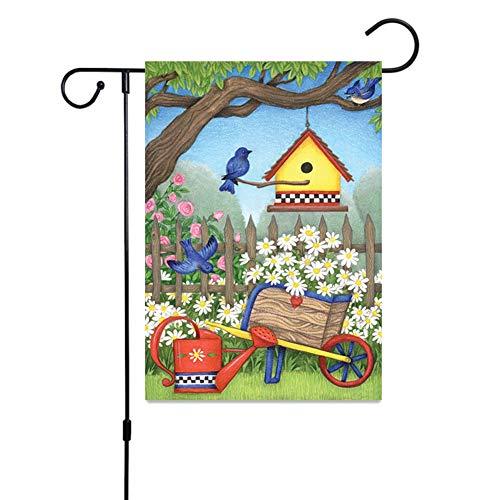 Huangzhiping Tier- und Pflanzenfahne Patten Gartenflagge Willkommen Gartenflagge Vertikale doppelseitige Banner Gartenflagge Festival fr Hof Outdoor, Sportschuhe mit Stollen, H04, 45*30cm