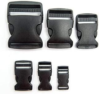 Lot de 20 sangles en plastique /à double curseur pour chien avec boucle de r/églage pour sac /à dos accessoires #FLC125-25B//20B//B//W 20mm*20mm Black